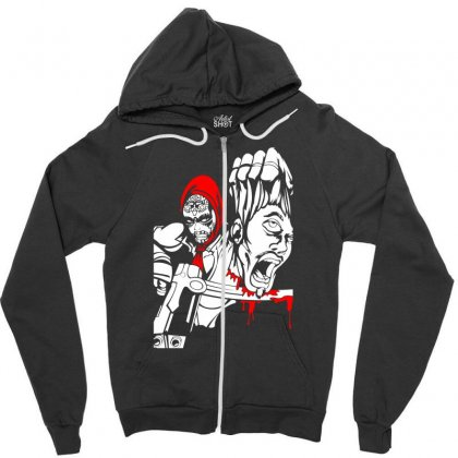 Red Murder Zipper Hoodie Designed By Specstore