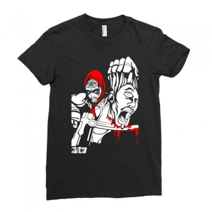 Red Murder Ladies Fitted T-shirt Designed By Specstore
