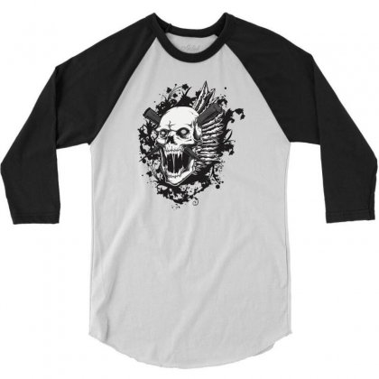 Sealed Vampire Skull 3/4 Sleeve Shirt Designed By Specstore