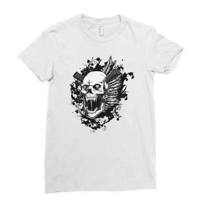 Sealed Vampire Skull Ladies Fitted T-shirt Designed By Specstore