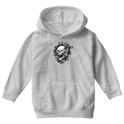 Sealed Vampire Skull Youth Hoodie Designed By Specstore