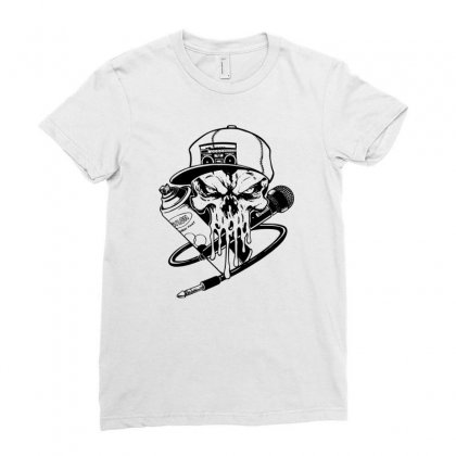 Skull Artis Ladies Fitted T-shirt Designed By Specstore