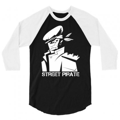 Street Pirate 3/4 Sleeve Shirt Designed By Specstore