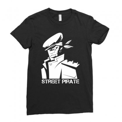 Street Pirate Ladies Fitted T-shirt Designed By Specstore