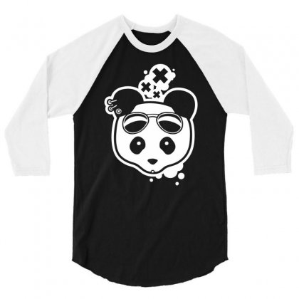 Super Hippies Panda 3/4 Sleeve Shirt Designed By Specstore