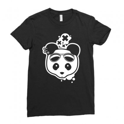 Super Hippies Panda Ladies Fitted T-shirt Designed By Specstore