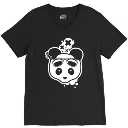 Super Hippies Panda V-neck Tee Designed By Specstore
