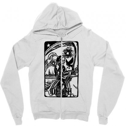 Tarot Death Card Zipper Hoodie Designed By Specstore
