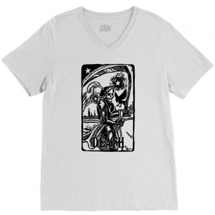 Tarot Death Card V-neck Tee Designed By Specstore
