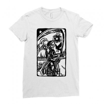 Tarot Death Card Ladies Fitted T-shirt Designed By Specstore
