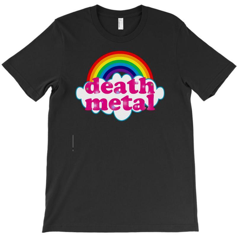 c9a3eb5c Custom Cute Death Metal Rainbow T-shirt By Thesamsat - Artistshot
