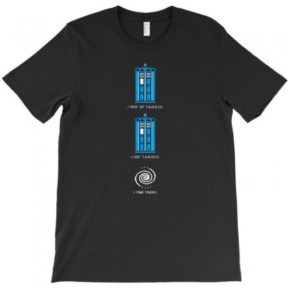 8 Bit Tardis Geek T-shirt Designed By Thesamsat