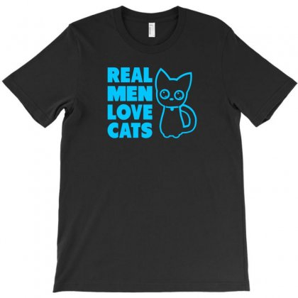 Real Men Love Cats T-shirt Designed By Thesamsat