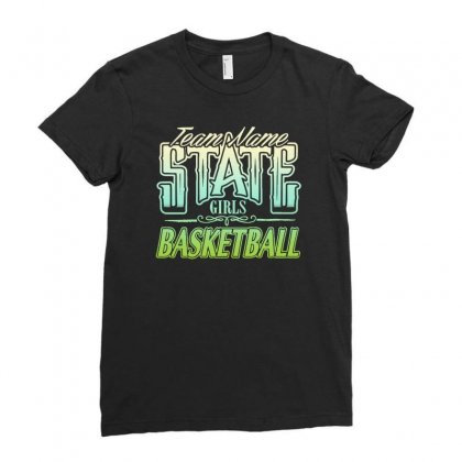 State Girls Basketball Ladies Fitted T-shirt Designed By Buckstore