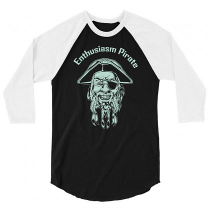 Enthusiasm Pirate 3/4 Sleeve Shirt Designed By Buckstore