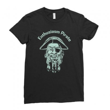 Enthusiasm Pirate Ladies Fitted T-shirt Designed By Buckstore