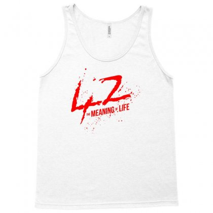 42 The Meaning Life Tank Top Designed By Specstore
