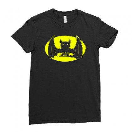 Bat Moon Ladies Fitted T-shirt Designed By Specstore