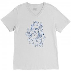 Born To Be A Wolf V-Neck Tee | Artistshot