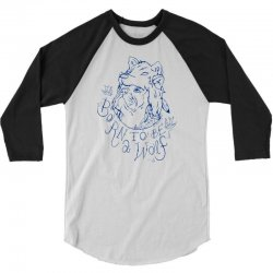 Born To Be A Wolf 3/4 Sleeve Shirt | Artistshot