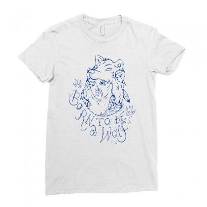 Born To Be A Wolf Ladies Fitted T-shirt Designed By Specstore