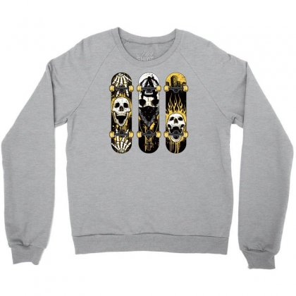 Burned Skate Skull Crewneck Sweatshirt Designed By Specstore