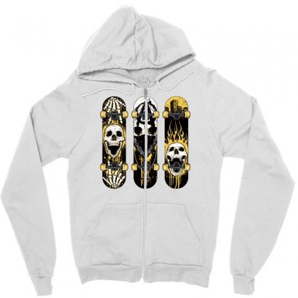 Burned Skate Skull Zipper Hoodie Designed By Specstore