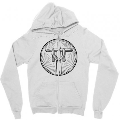 Easter Sunday Cross Zipper Hoodie Designed By Specstore