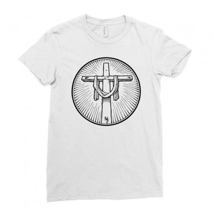 Easter Sunday Cross Ladies Fitted T-shirt Designed By Specstore