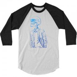 Gentleman Skull 3/4 Sleeve Shirt | Artistshot