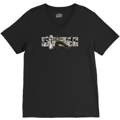 Graffiti Man V-neck Tee Designed By Specstore