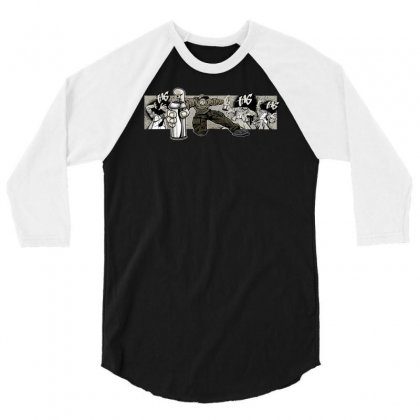 Graffiti Man 3/4 Sleeve Shirt Designed By Specstore