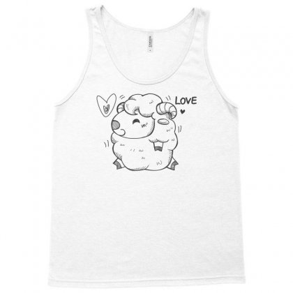 Happy Love And Life Sheep Tank Top Designed By Specstore