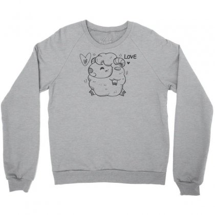Happy Love And Life Sheep Crewneck Sweatshirt Designed By Specstore