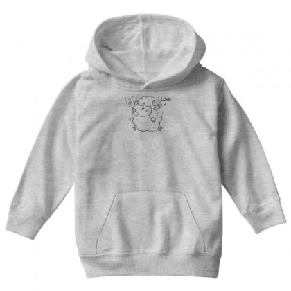 Happy Love And Life Sheep Youth Hoodie Designed By Specstore
