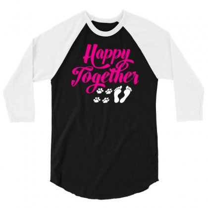 Happy Together With Pet 3/4 Sleeve Shirt Designed By Specstore