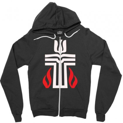 Holy Sunday Easter Logo Zipper Hoodie Designed By Specstore