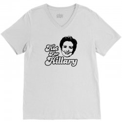 Hot For Hillary V-Neck Tee | Artistshot