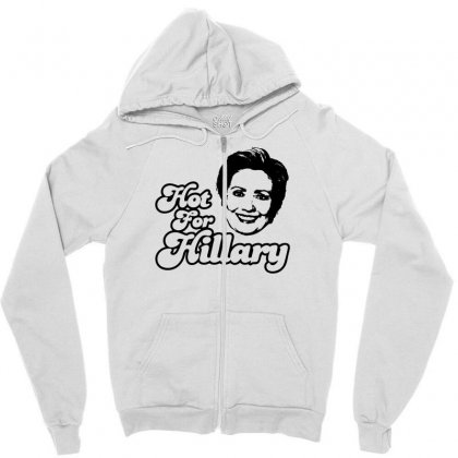 Hot For Hillary Zipper Hoodie Designed By Specstore