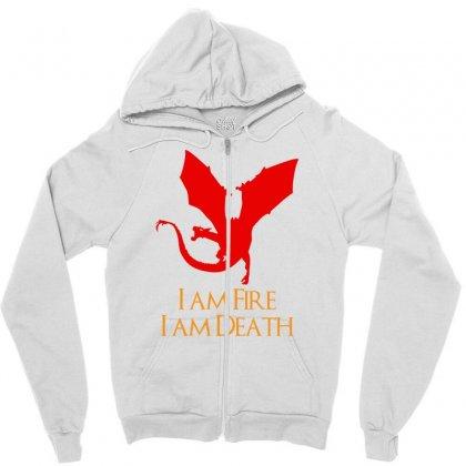 I Am Fire I Am Death Zipper Hoodie Designed By Specstore