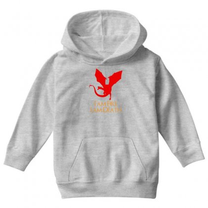 I Am Fire I Am Death Youth Hoodie Designed By Specstore