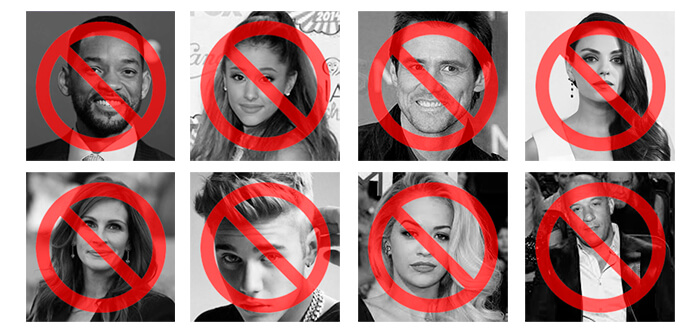 Not print Celebrities