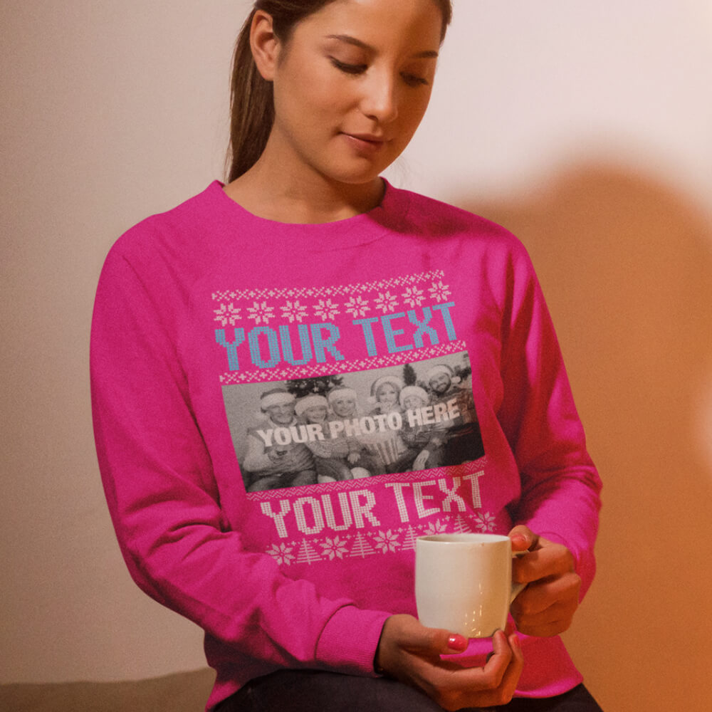 Custom Sweatshirt Your Text And Photo Here | Artistshot