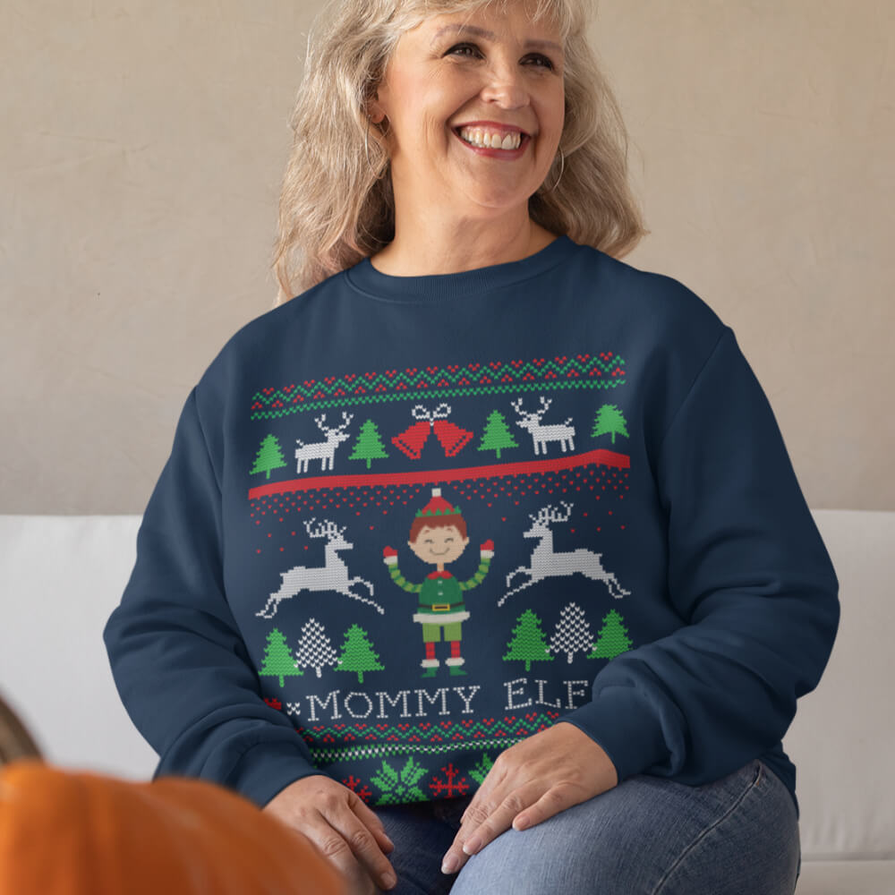 Custom Sweatshirt Elf Ugly Christmas | Artistshot