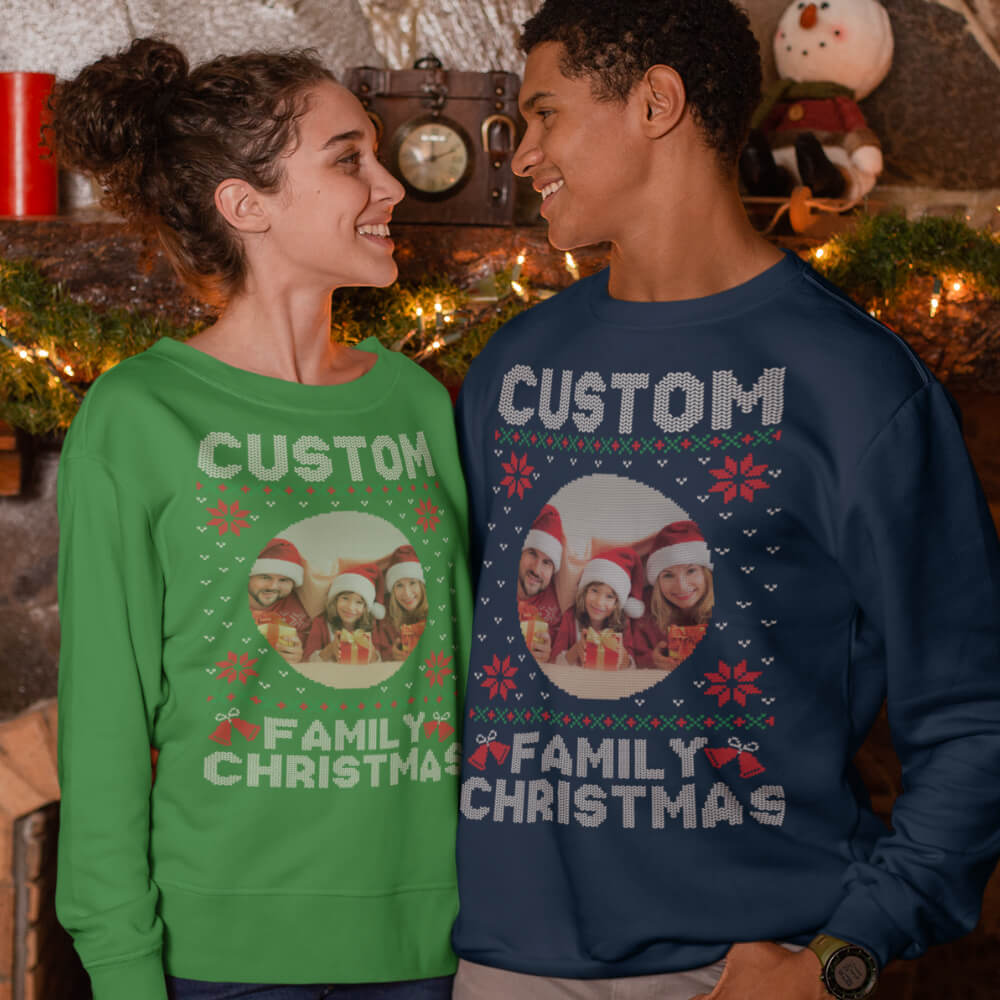 Custom Sweatshirt Photo Family Christmas | Artistshot
