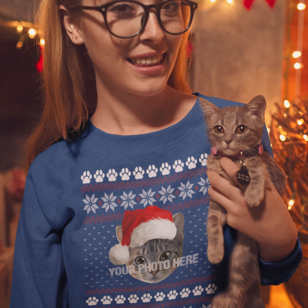 Custom Sweatshirt Add Your Cat Photo Here | Artistshot