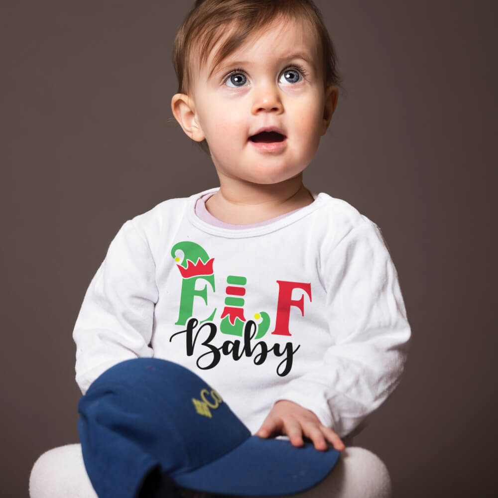 Custom Sweatshirt Elf Baby Christmas Family Matching | Artistshot