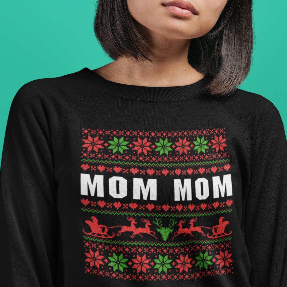 Custom Sweatshirt Mom Mom Christmas | Artistshot