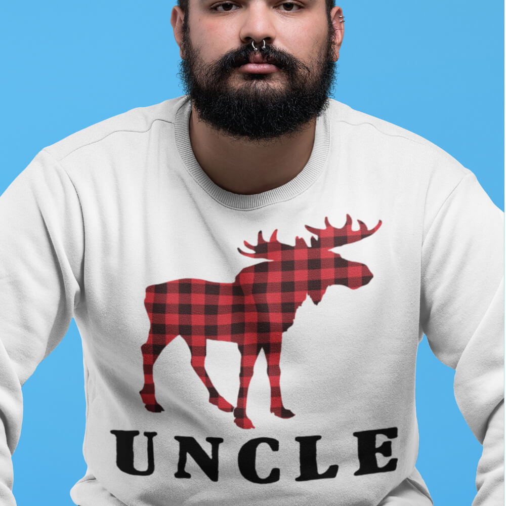 Custom Sweatshirt Reindeer Christmas Family Uncle | Artistshot