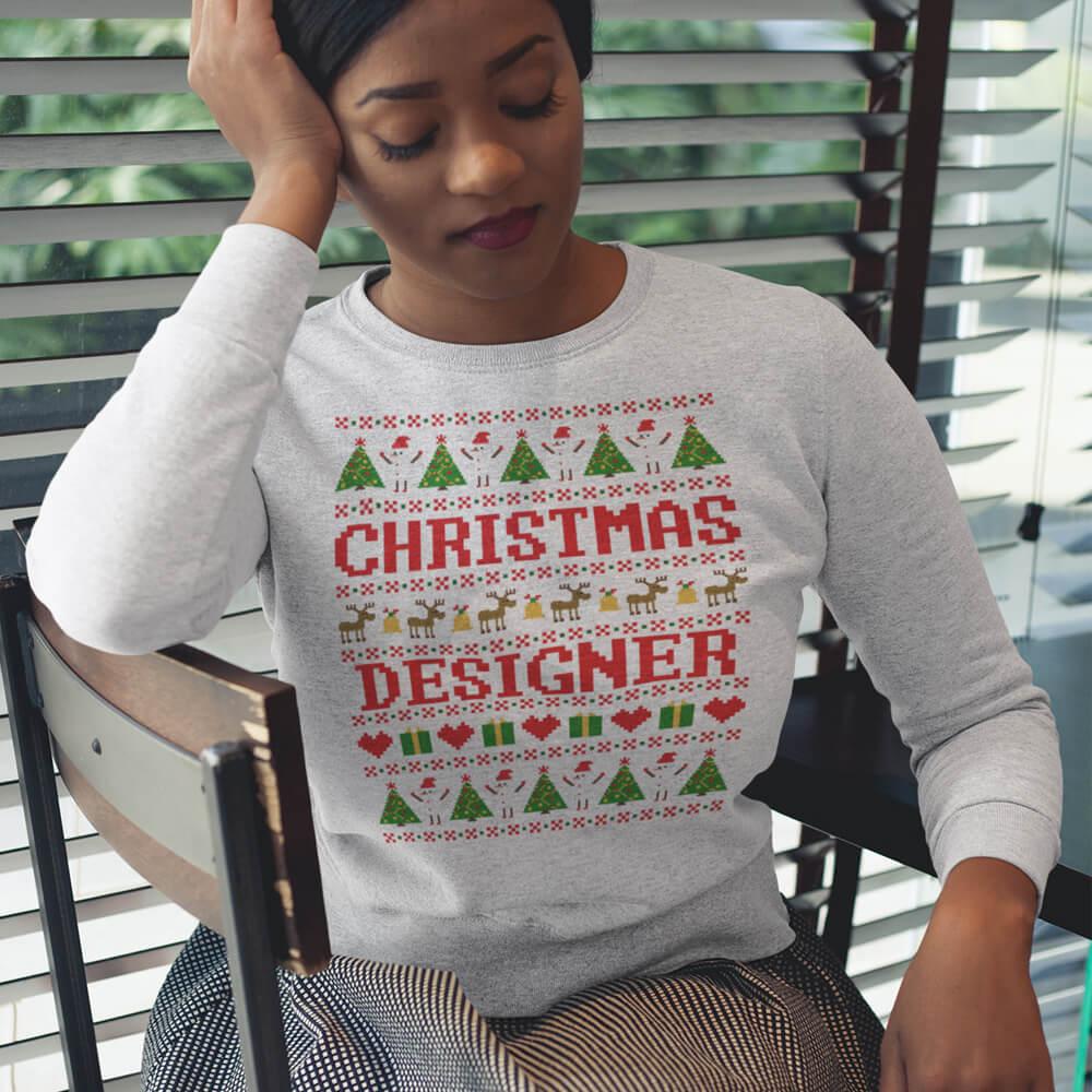 Custom Sweatshirt Christmas Designer | Artistshot